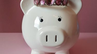 spaarvarken roze kroontje