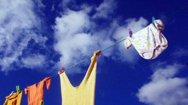lucht wolken waslijn