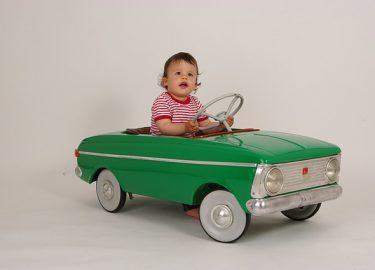 groene auto peuter