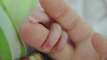 baby vingers in hand