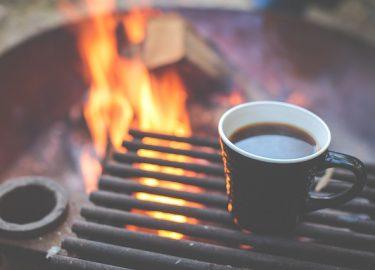 kop koffie barbecue