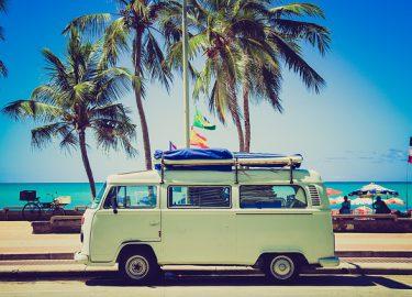 met vw busje op vakantie