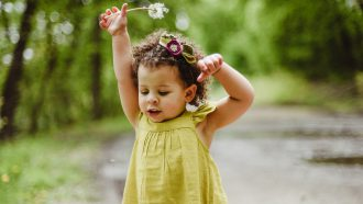 meisje van 2 jaar oud