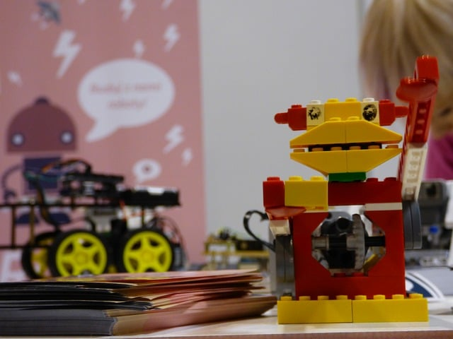 robot van lego