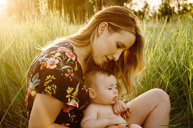 moeder met baby
