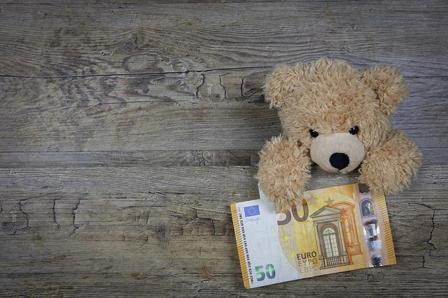 knuffelbeer met geld