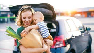 Slim boodschappen doen als moeder